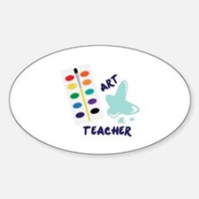 Watercolor Artist Paint Palette Art Teacher Sticke