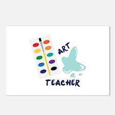 Watercolor Artist Paint Palette Art Teacher Postca