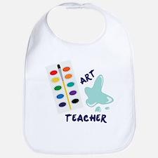 Watercolor Artist Paint Palette Art Teacher Bib