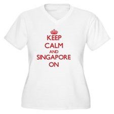 Keep calm and Singapore ON Plus Size T-Shirt