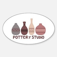 Pottery Vases Studio Decal