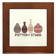 Pottery Vases Studio Framed Tile