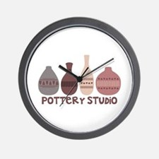 Pottery Vases Studio Wall Clock