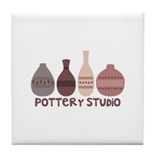 Pottery Vases Studio Tile Coaster
