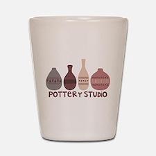 Pottery Vases Studio Shot Glass