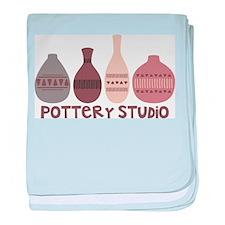 Pottery Vases Studio baby blanket
