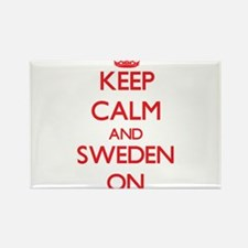 Keep calm and Sweden ON Magnets