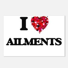 I Love Ailments Postcards (Package of 8)