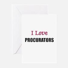 I Love PROCURATORS Greeting Cards (Pk of 10)
