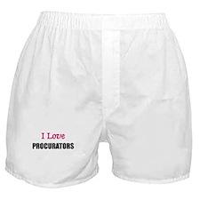 I Love PROCURATORS Boxer Shorts