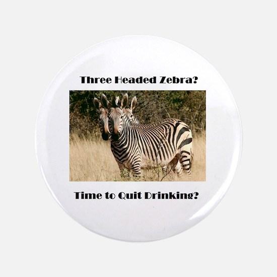 Three Headed Zebra? Button