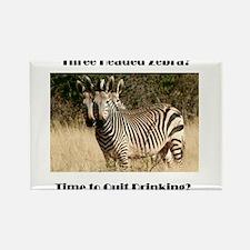 Three Headed Zebra? Rectangle Magnet