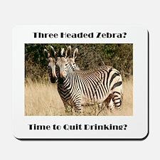 Three Headed Zebra? Mousepad