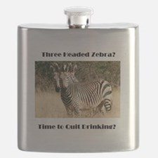 Three Headed Zebra? Flask
