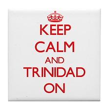 Keep calm and Trinidad ON Tile Coaster