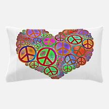 Peace Sign Heart Pillow Case