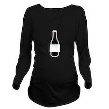 Beer Frame Long Sleeve Maternity T-Shirt