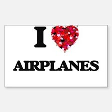 I Love Airplanes Decal