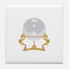 Crystal Ball Psychic Reading Tile Coaster