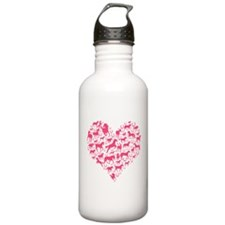 Horse Heart Pink Water Bottle