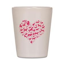 Horse Heart Pink Shot Glass