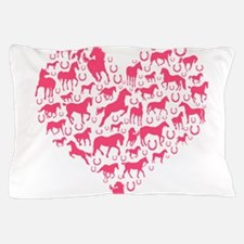 Horse Heart Pink Pillow Case