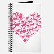 Horse Heart Pink Journal