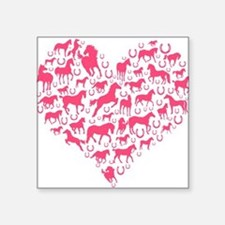Horse Heart Pink Sticker