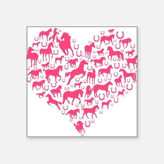 Horse Heart Pink Sticker