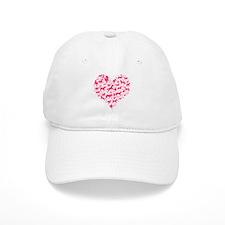 Horse Heart Pink Baseball Cap