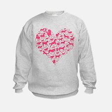 Horse Heart Pink Sweatshirt