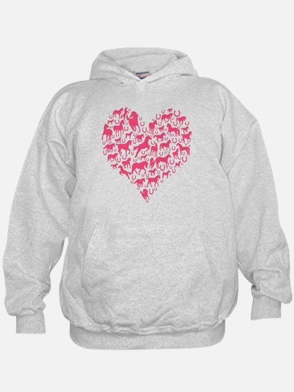 Horse Heart Pink Hoody