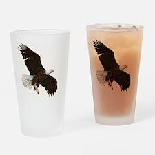 Amazing Bald Eagle Drinking Glass