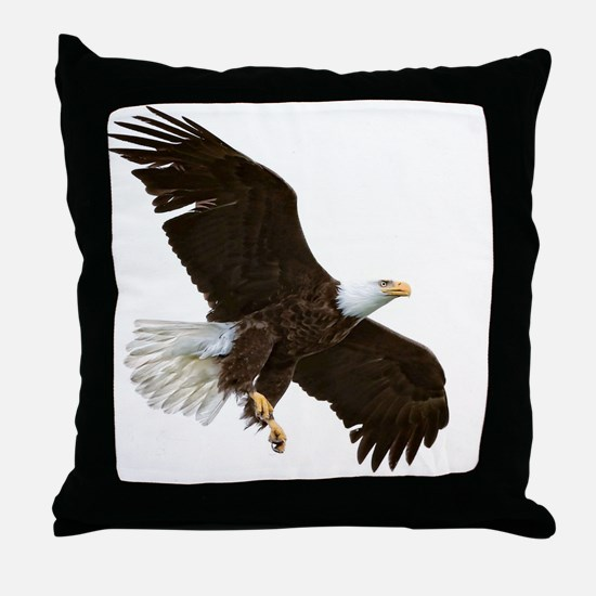 Amazing Bald Eagle Throw Pillow
