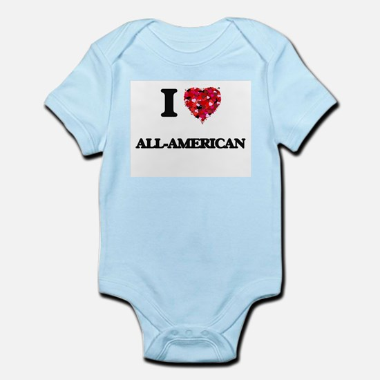 I Love All-American Body Suit