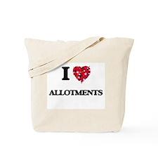 I Love Allotments Tote Bag