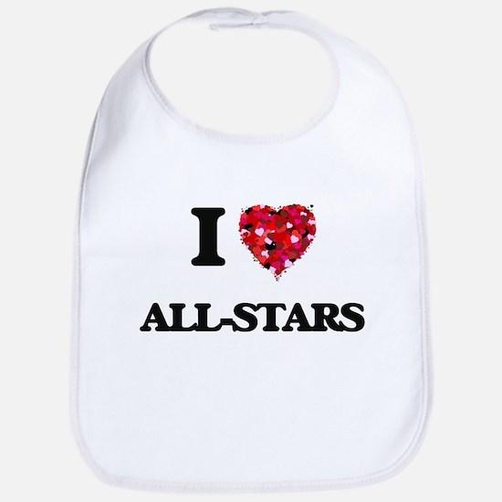 I Love All-Stars Bib