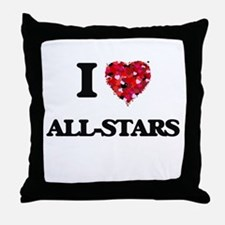 I Love All-Stars Throw Pillow