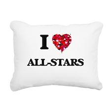I Love All-Stars Rectangular Canvas Pillow