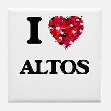 I Love Altos Tile Coaster