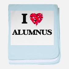 I Love Alumnus baby blanket