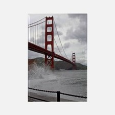 Golden Gate from Fort Point Rectangle Magnet