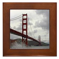 Golden Gate from Fort Point Framed Tile