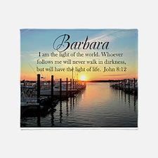 JOHN 8:12 FAITH Throw Blanket