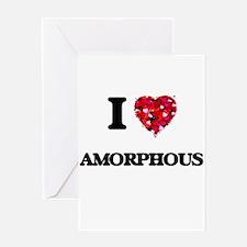 I Love Amorphous Greeting Cards