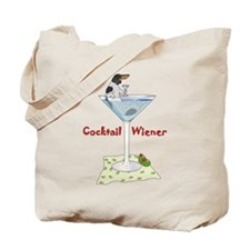 Piebald Cocktail Wiener Tote Bag