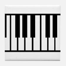 Midi Keyboard Musical Instrument Tile Coaster