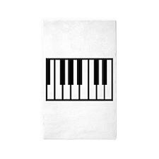 Midi Keyboard Musical Instrument Area Rug