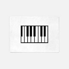 Midi Keyboard Musical Instrument 5'x7'Area Rug