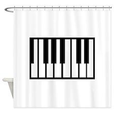 Midi Keyboard Musical Instrument Shower Curtain